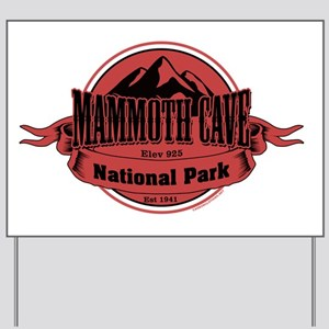 mammoth cave 4 Yard Sign