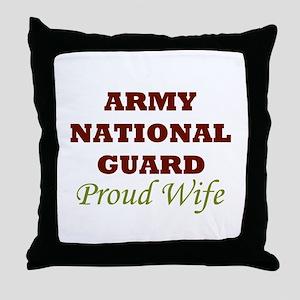 National Guard Proud Wife Throw Pillow