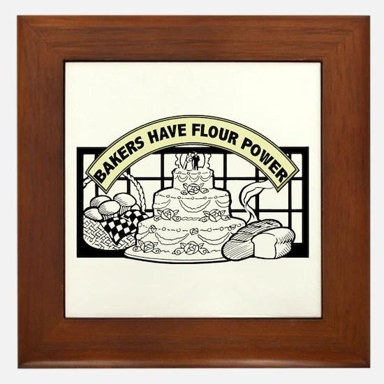 Flour Power Framed Tile