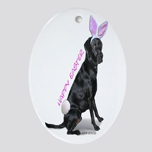 Easter Bunny Labrador Oval Ornament