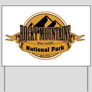 rocky mountains 5 Yard Sign