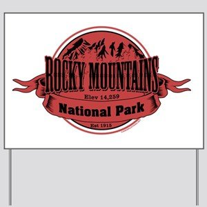 rocky mountains 2 Yard Sign