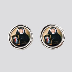 Saint Faustina Apostle Of Divine Mercy Cufflinks