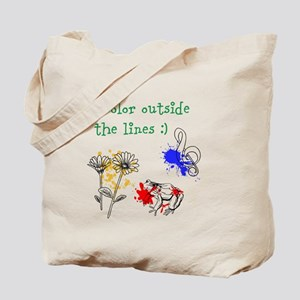 I Color Outside the Lines Tote Bag