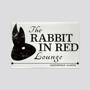Rabbit in Red Lounge Rectangle Magnet