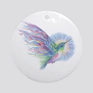 Hummingbird Art Round Ornament