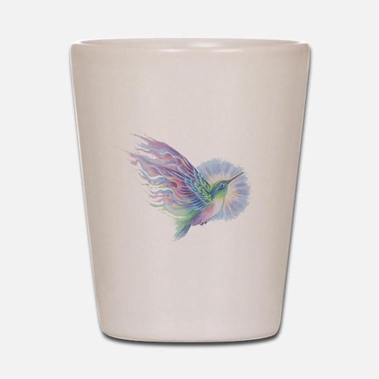 Hummingbird Art Shot Glass
