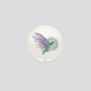 Hummingbird Art Mini Button