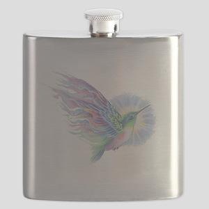 Hummingbird Art Flask