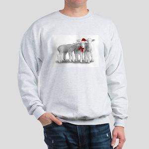 Christmas Hat Lambs Sweatshirt