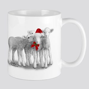 Christmas Hat Lambs Mugs