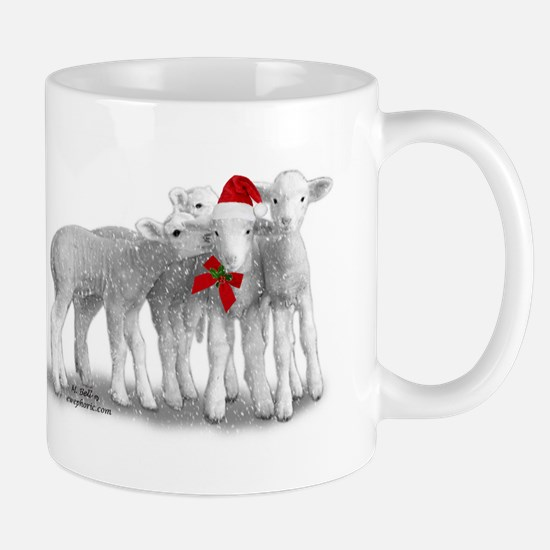 Christmas Hat Lambs Mugs