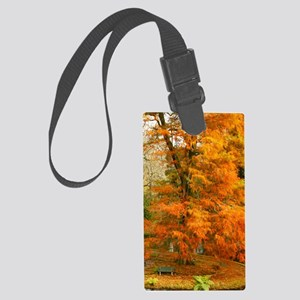 Willow in Autumn colors Large Luggage Tag