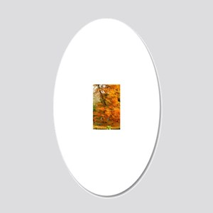 Willow in Autumn colors 20x12 Oval Wall Decal