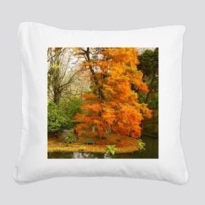 Willow in Autumn colors Square Canvas Pillow
