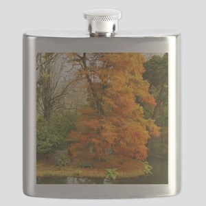Willow in Autumn colors Flask