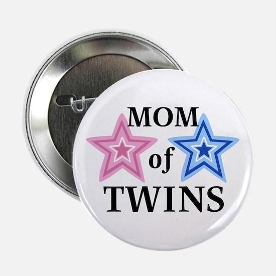 Mom of Twins (Girl, Boy) Button