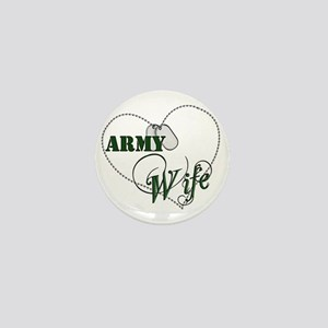 Army Wife for dark backgrounds Mini Button