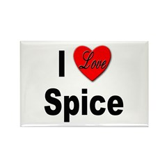 I Love Spice Rectangle Magnet (10 pack)