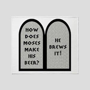 Moses Beer Pun Throw Blanket