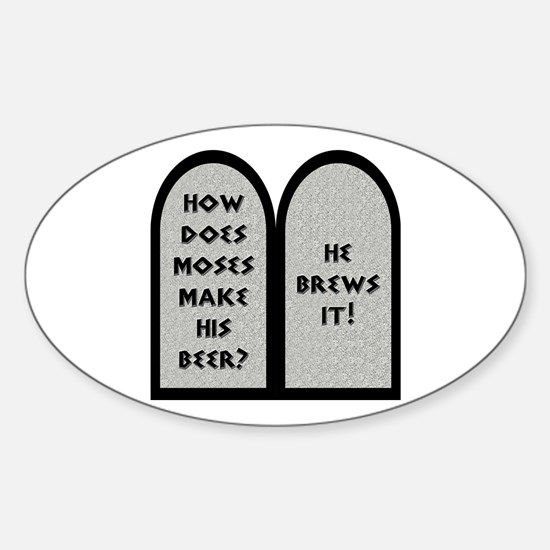 Moses Beer Pun Sticker (Oval)