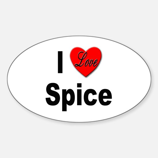 I Love Spice Oval Decal
