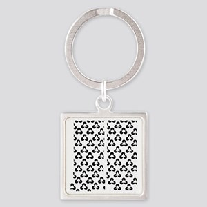 Triangle Illusion Square Keychain