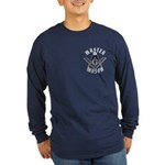 The Master Mason in white letters Long Sleeve Dark