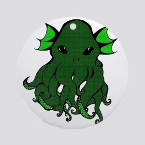 Cthulhu's Face Round Ornament