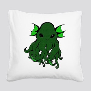Cthulhu's Face Square Canvas Pillow