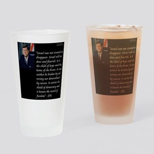 John F. Kennedy Drinking Glass