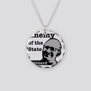 Enemy of the State - Rothbar Necklace Circle Charm