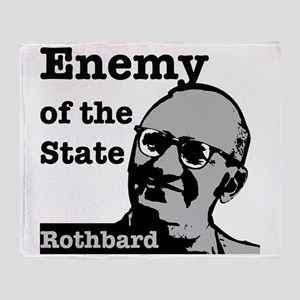 Enemy of the State - Rothbard Throw Blanket