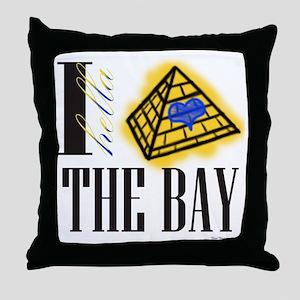 I Hella Heart The Bay Phi Sigma Sigma Throw Pillow