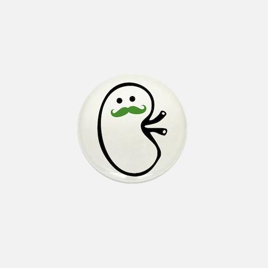 Kidney Mustache Mini Button (100 pack)