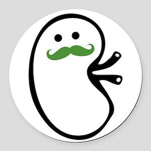 Kidney Mustache Round Car Magnet