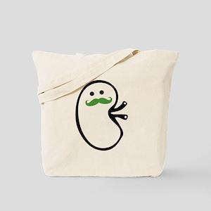 Kidney Mustache Tote Bag