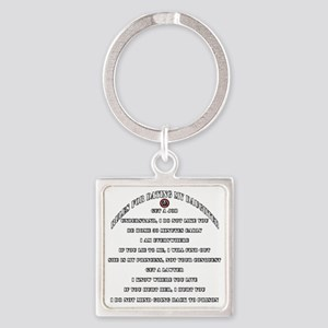Dads Against Daughters Dating Rule Square Keychain