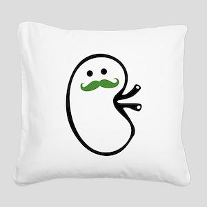 Kidney Mustache Square Canvas Pillow