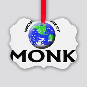 World's Sexiest Monk Picture Ornament