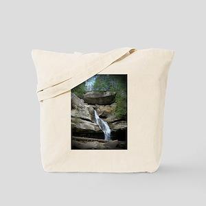 Close up of Falls at Old Man's Cave Tote Bag