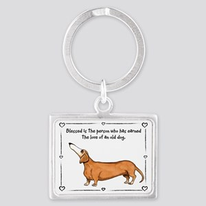 Old dog Love Landscape Keychain