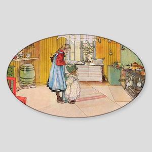 Churning Butter Sticker (Oval)
