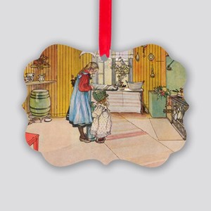 Churning Butter Picture Ornament