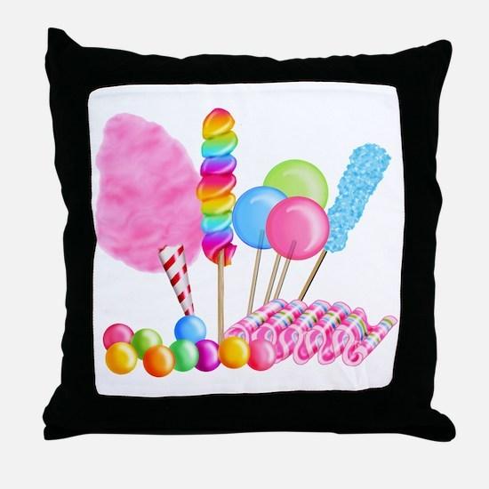 Candy Circus Throw Pillow