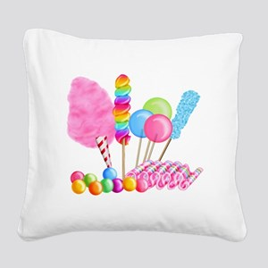 Candy Circus Square Canvas Pillow