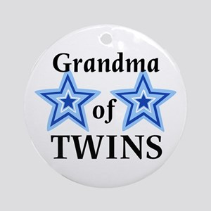 Grandma of Twins (Boys) Ornament (Round)