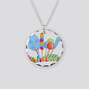 candy circus boy-  Necklace Circle Charm