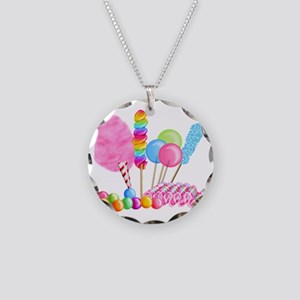 Candy Circus Necklace Circle Charm