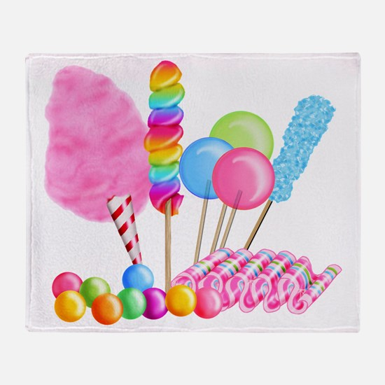 Candy Circus Throw Blanket